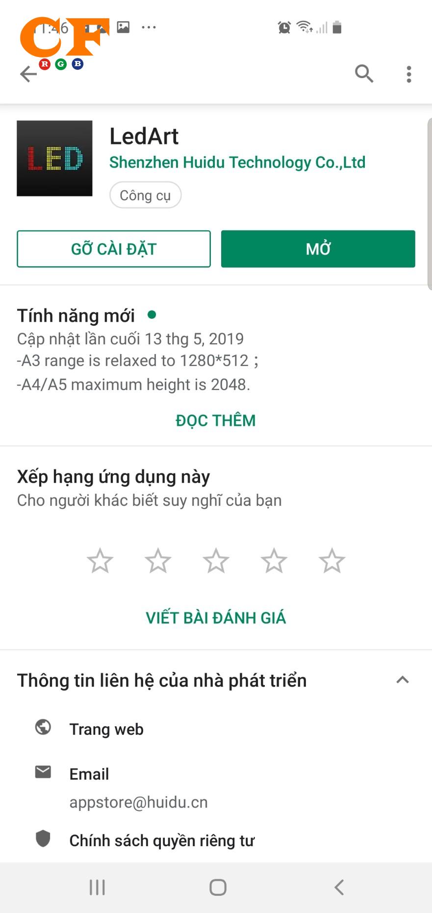Hướng dẫn chạy biển quảng cáo led full color dùng điện thoại card hd - LEDCF Việt Nam