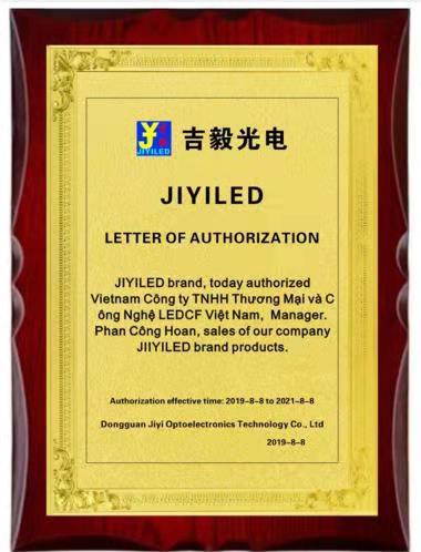LEDCF Việt Nam trở thành đại lý cấp 1 hãng Led JIYI tại Việt Nam