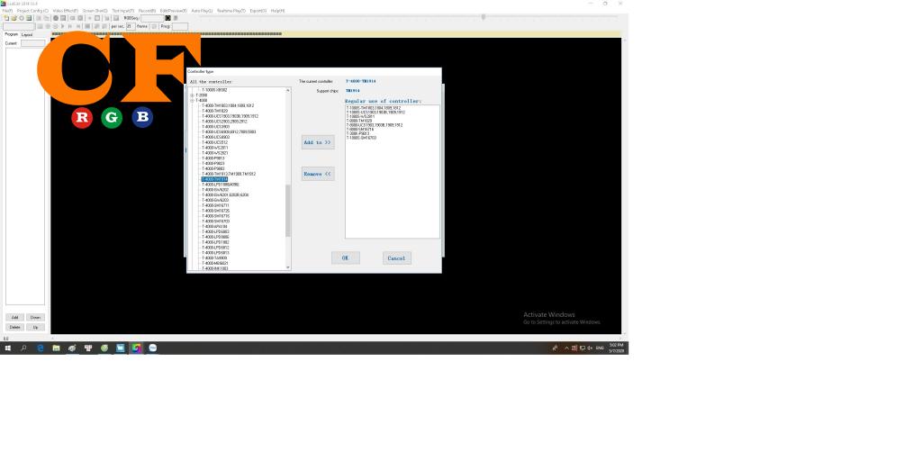 Phần mềm Lededit 2014 V2.44 chạy led full color 1914