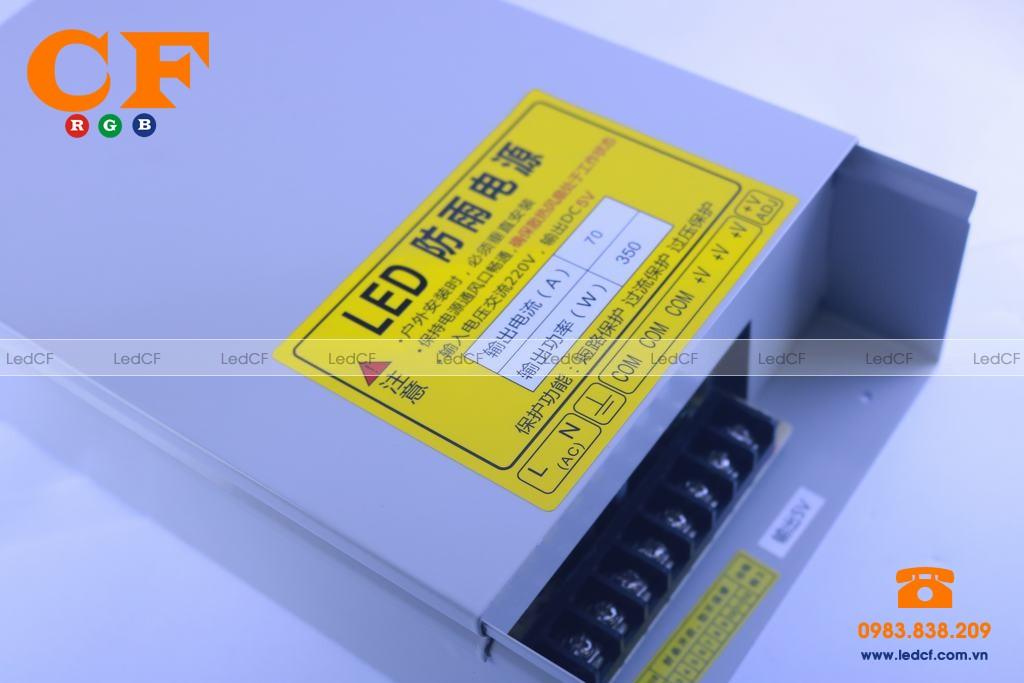 Bộ nguồn Led 5V 70A chống nước