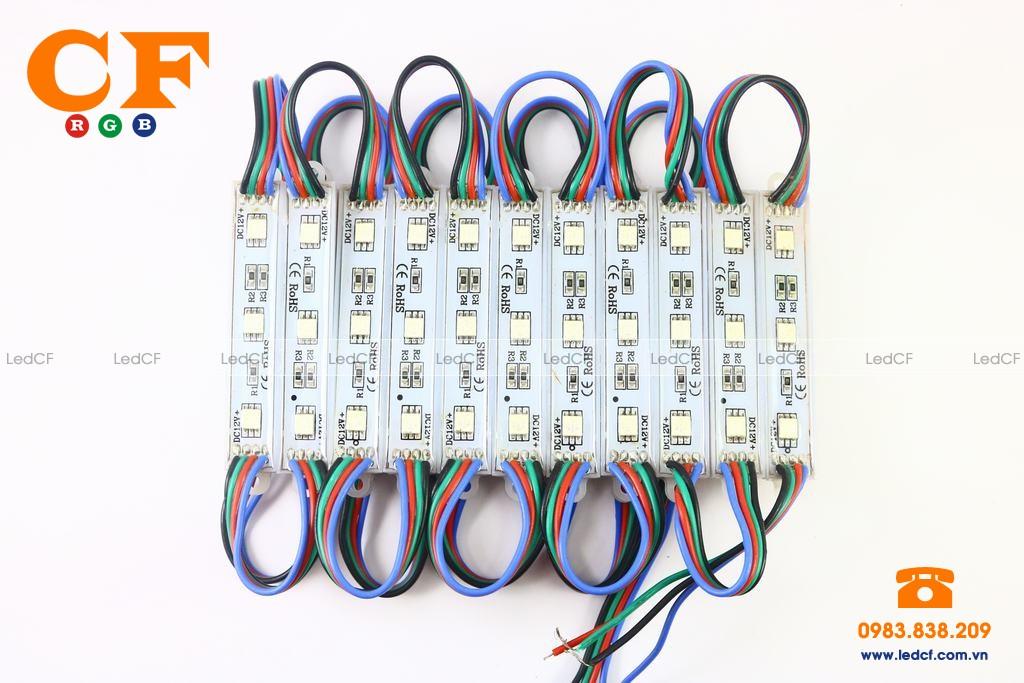 Hướng dẫn đấu nối LED HẮT 7 MÀU NHÁY THEO NHẠC