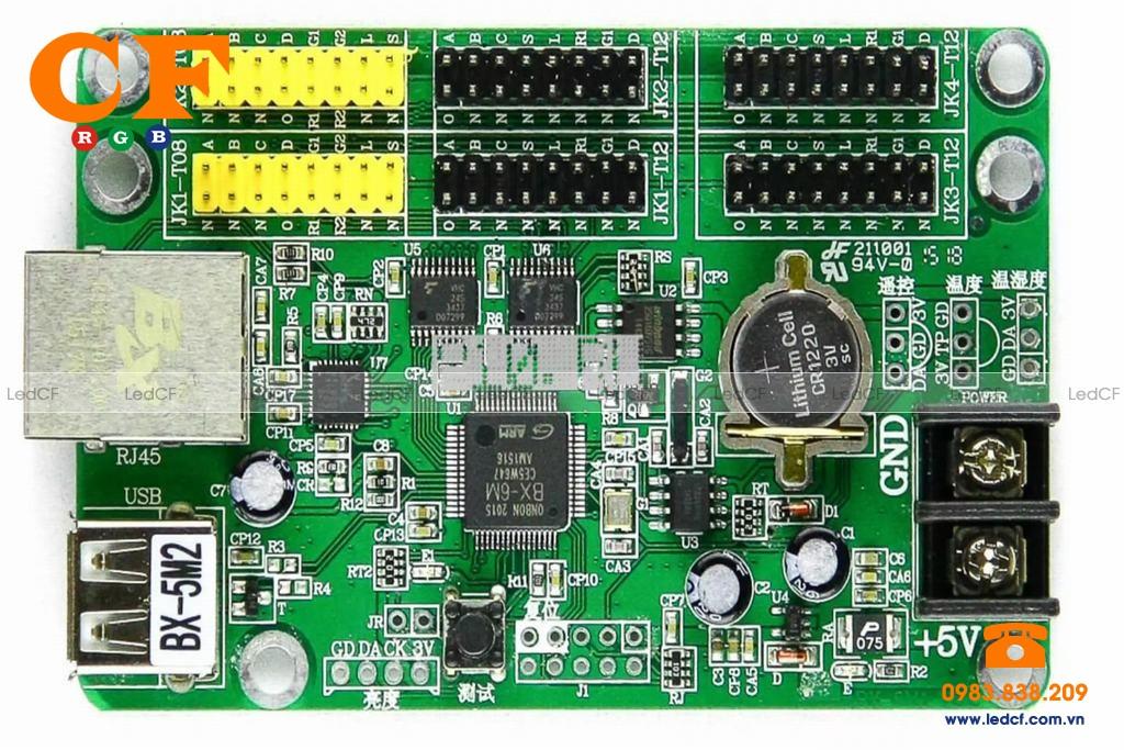 Mạch điều khiển led qua dây mạng LAN