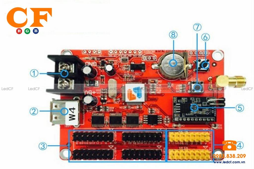 Mạch điều khiển led qua WIFI