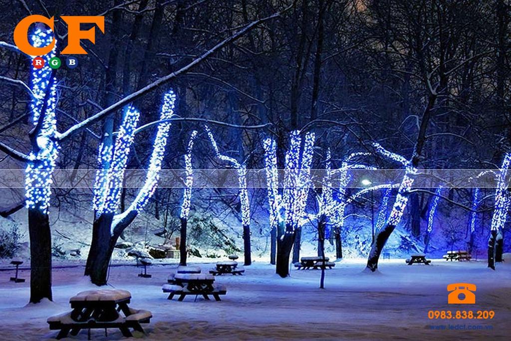 Làm đèn led đúc trang trí cây?