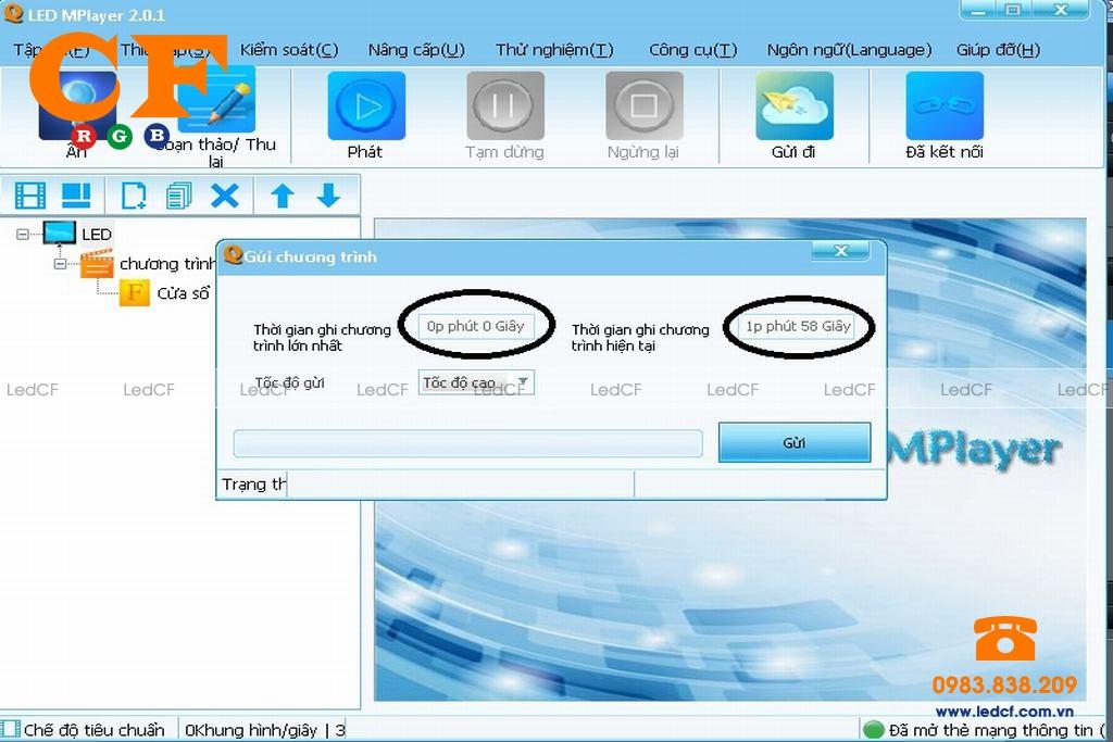 Các lỗi và cách khắc phục của phần mềm Led Mplayer chạy card Ls Q1 Plus