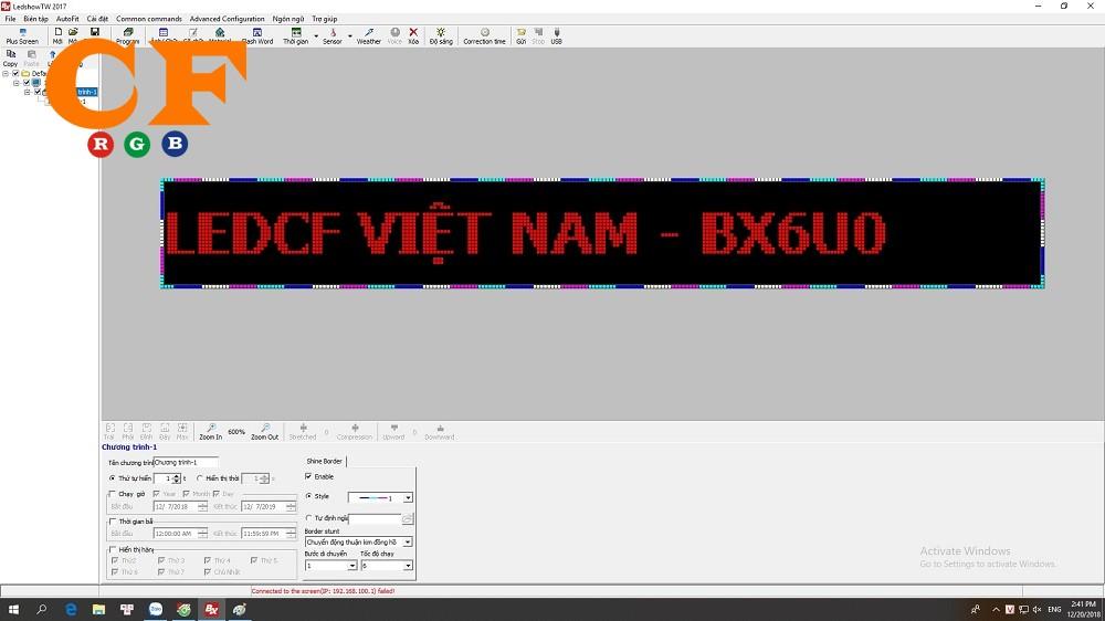 Hướng dẫn mạch BX 6 Series - phần mềm Ledshow 2018 - LEDCF Việt Nam
