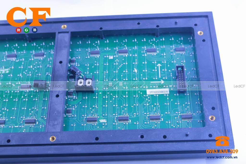 Text LED MA TRẬN P10 TRẮNG kiểm tra độ sáng và đấu nối