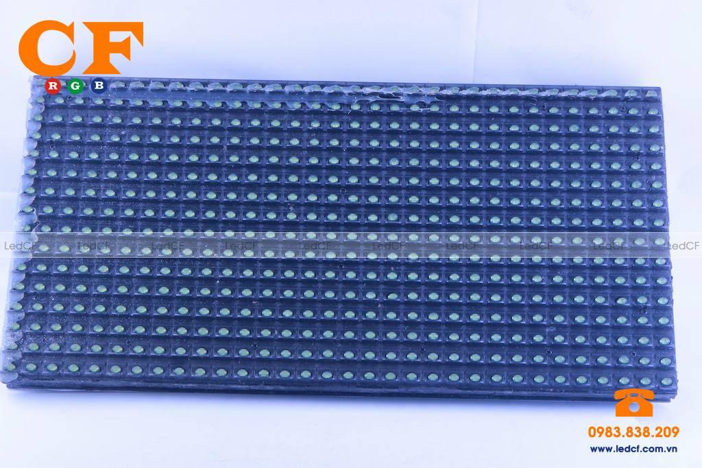 Text LED MA TRẬN P10 XANH LÁ kiểm tra độ sáng và đấu nối