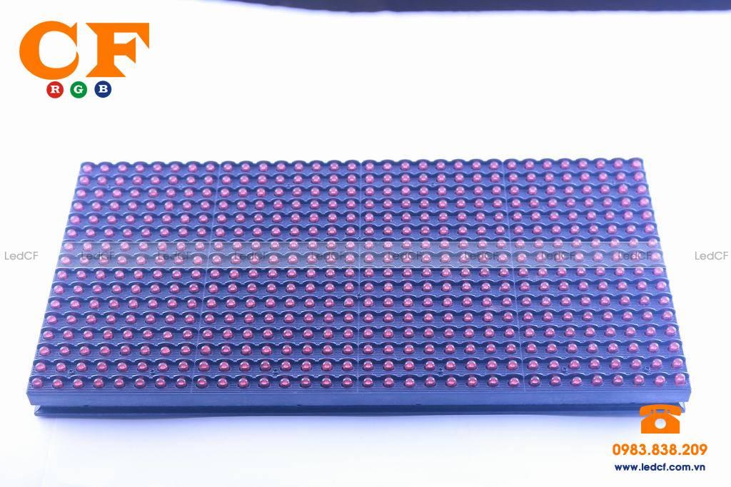 Text LED MA TRẬN P10 ĐỎ kiểm tra độ sáng và đấu nối