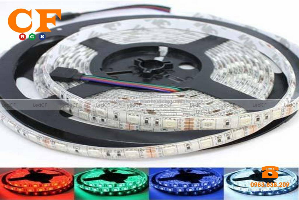 Led dây dán 7 màu chạy mạch led vẫy dùng cho tháp truyền hình
