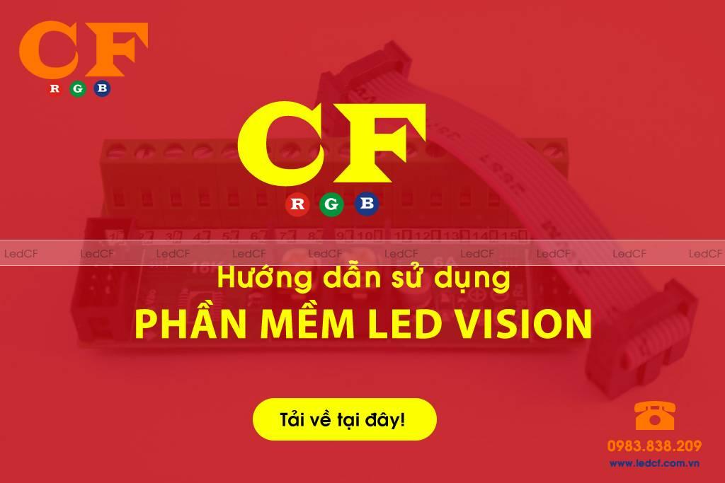 Hướng dẫn sử dụng phần mềm LEDVISION dùng CARD A8 AF, i5AF