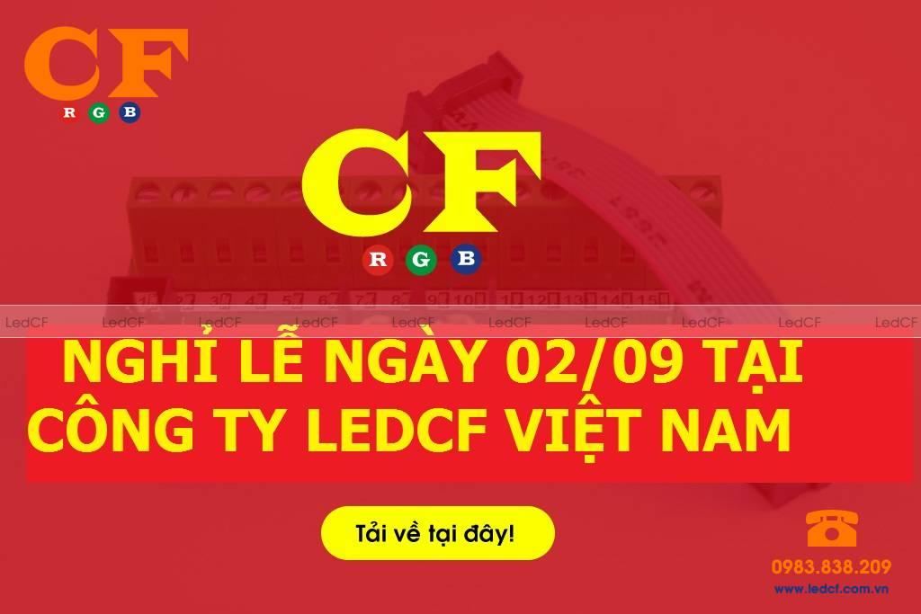Thống báo nghỉ lễ ngày 02/09 tại công ty LEDCF Việt Nam