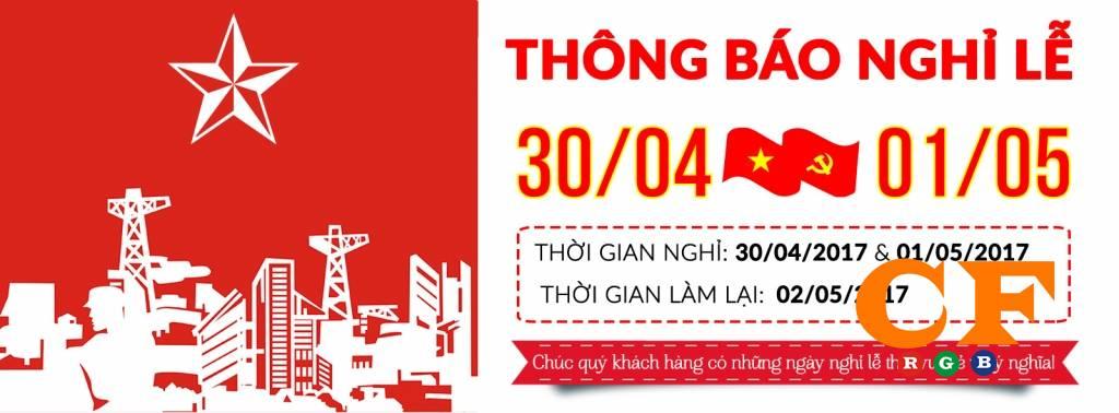 Thông báo lịch nghỉ lễ 30/4 và 1/5 tại LEDCF Việt Nam