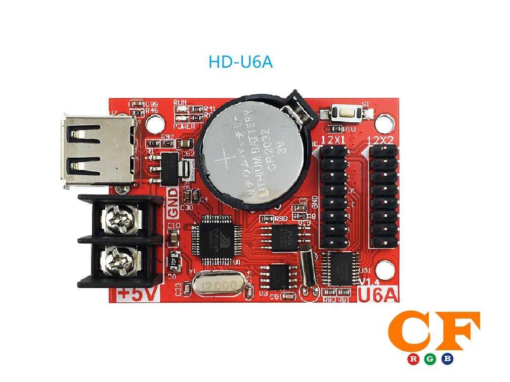 Lập trình biển led ma trận p10 và p16 dùng điện thoại card HD