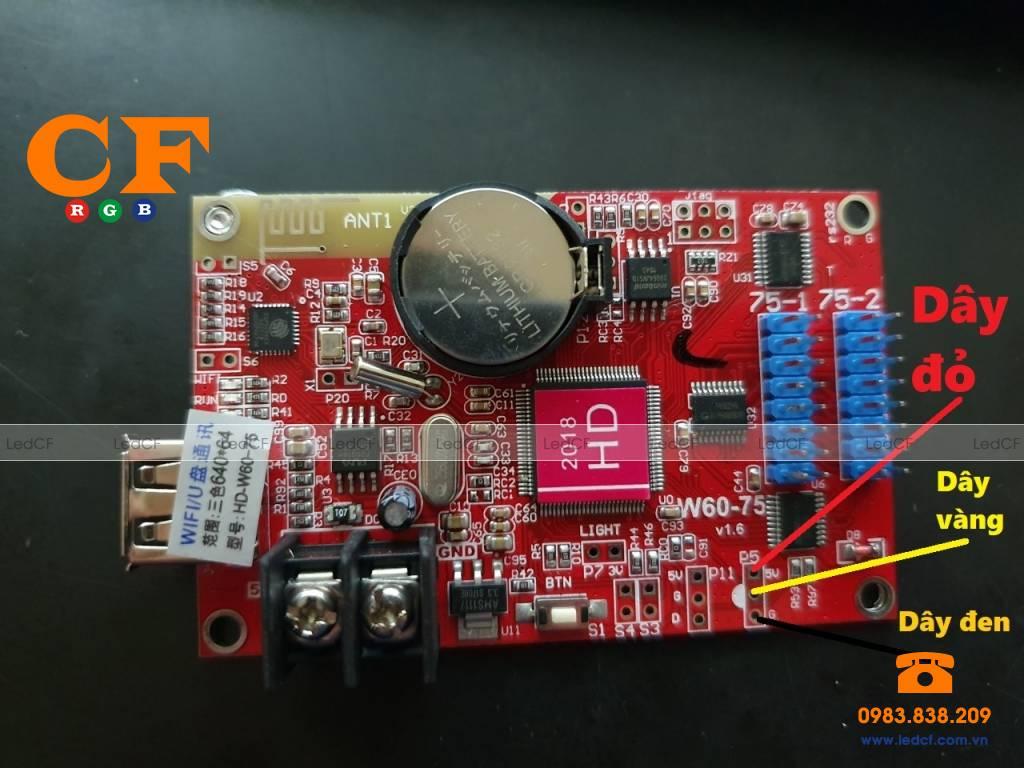 Hướng dẫn lập trình biển led ma trận chạy nhiệt độ dùng mạch HD- LEDCF Việt Nam