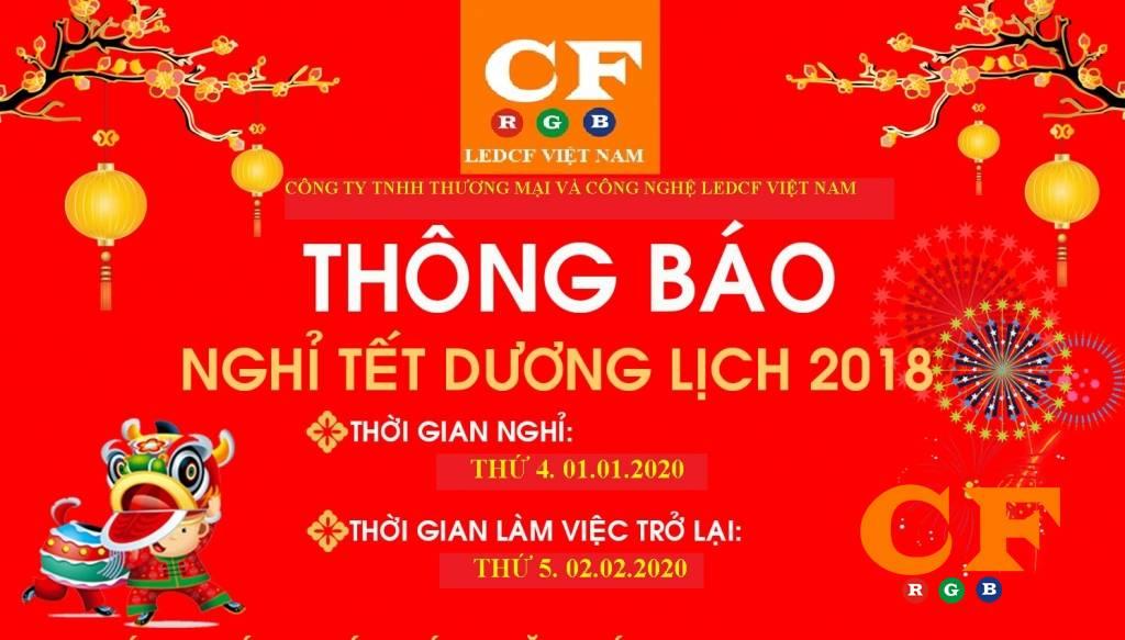 Thông báo lịch nghỉ lễ tết Dương Lịch tại LEDCF Việt Nam