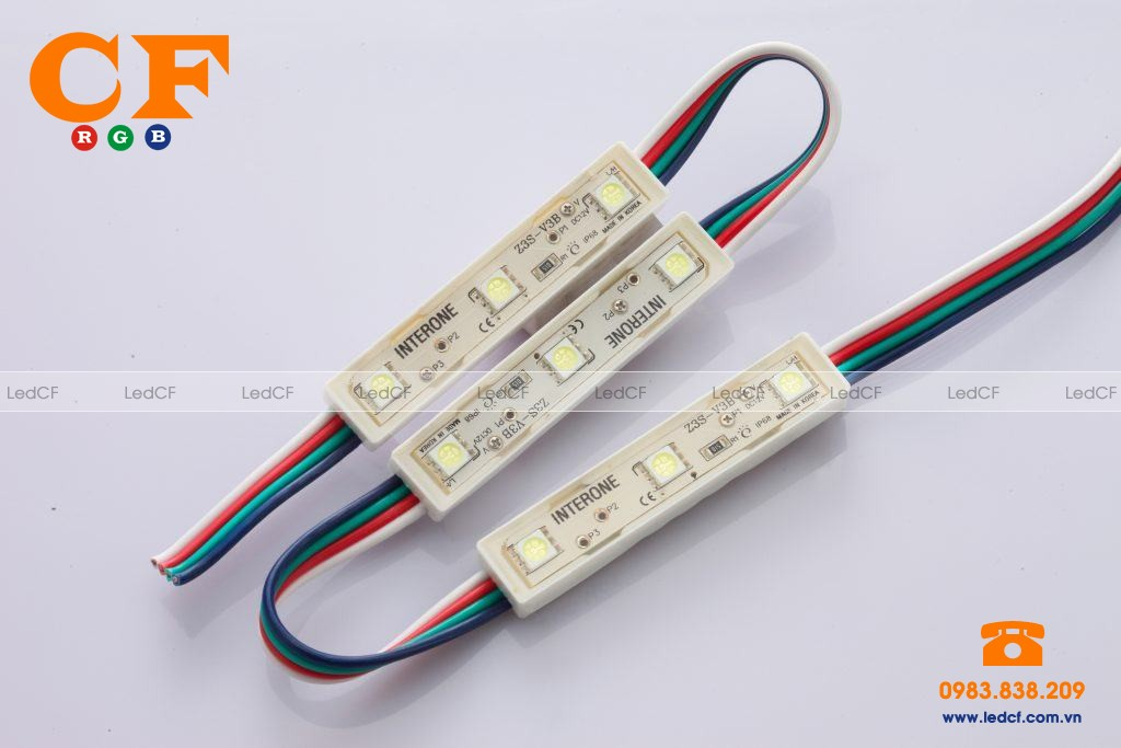 Led hắt 3 bóng full color