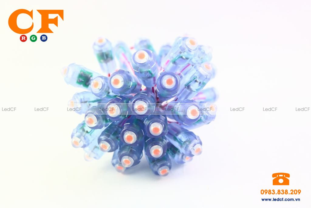 Led đúc 8mm đế 12mm
